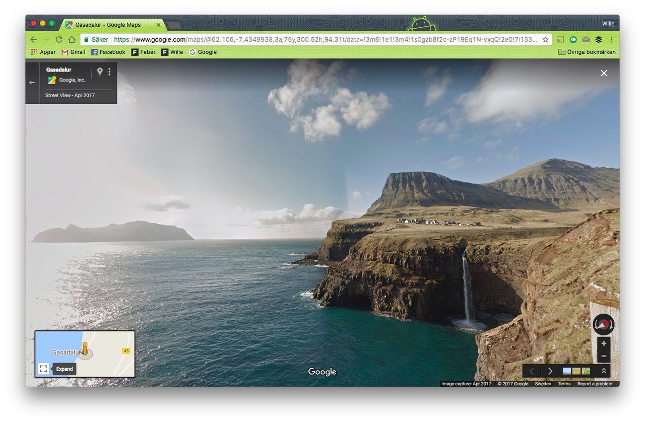 Nu finns Google Maps Street View på Färöarna
