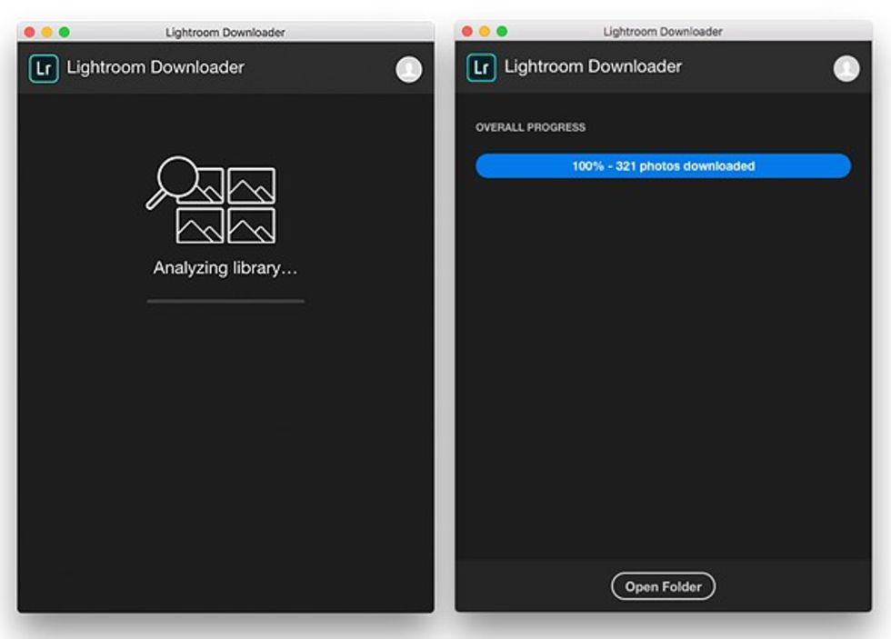 Ladda ner dina bilder från molnet med Lightroom Downloader