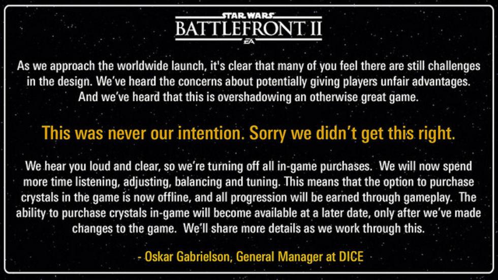 EA pudlar med Star Wars Battlefront II