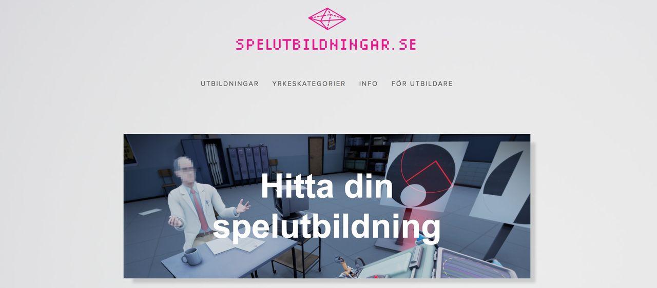 Dataspelsbranschen nylanserar spelutbildningar.se