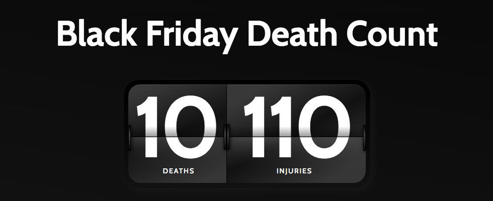 Inga dödsfall under årets Black Friday-shopping i USA