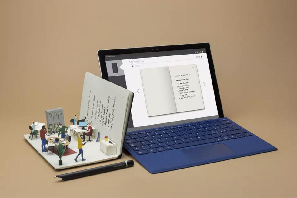 Moleskin överför anteckningar till Windows 10 automatiskt