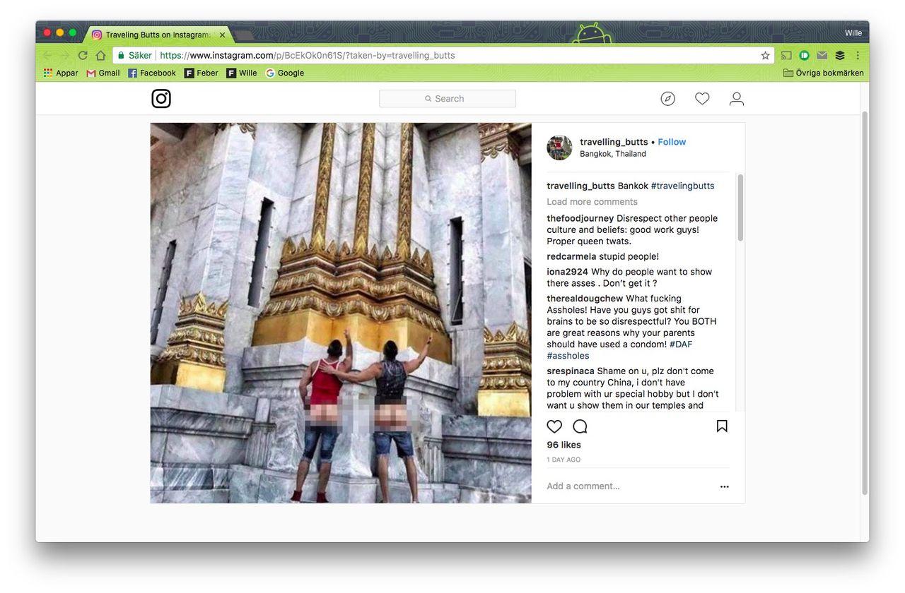 Amerikanska turister bötfällda för rövies i Thailand