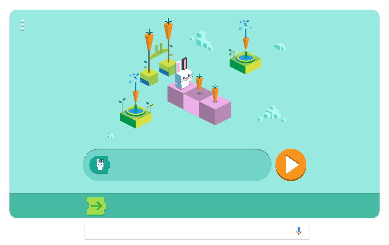 Veckans Google Doodle lär ungar att programmera
