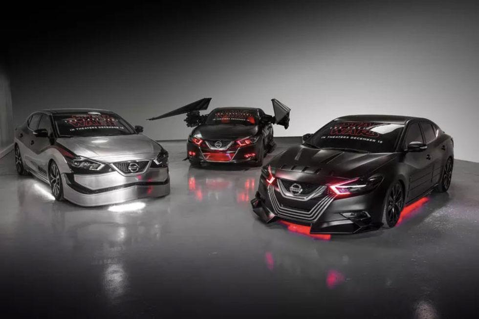 Nissan visar upp Star Wars-bilar