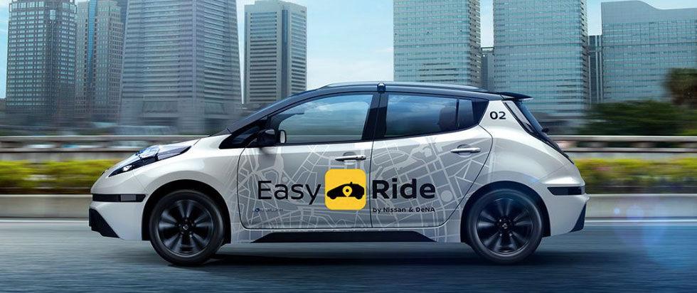 Nissan börjar testa självkörande taxibilar i Japan nästa år