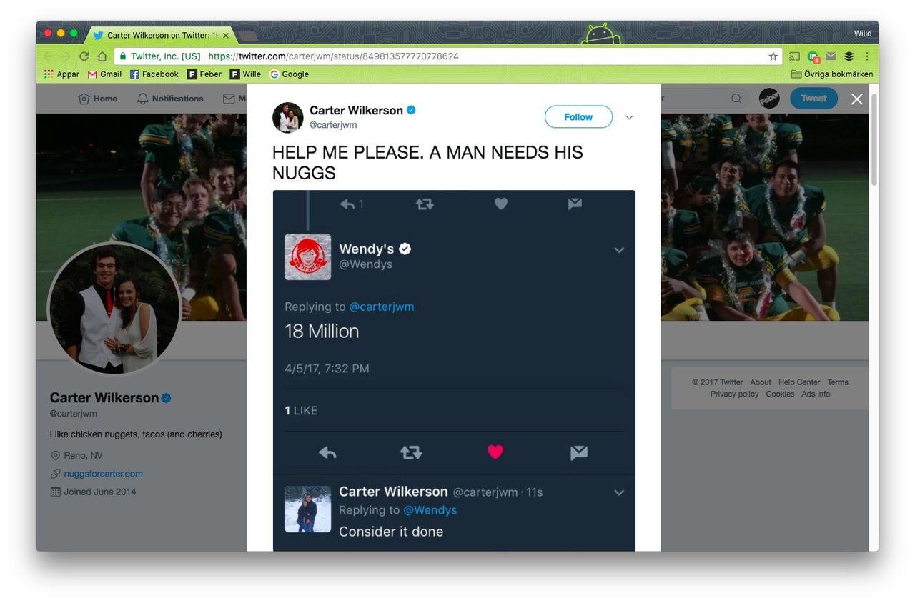 Nugget-tweet årets mest retweetade