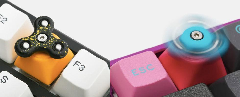 Nu kommer fidget spinners till tangentbordet