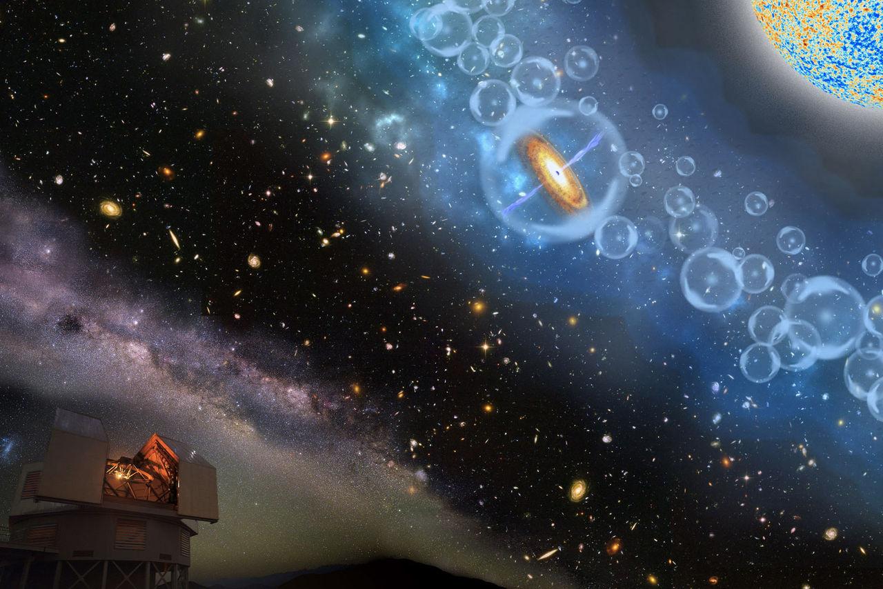 Astronomer hittar tokgammalt svart hål i Universum