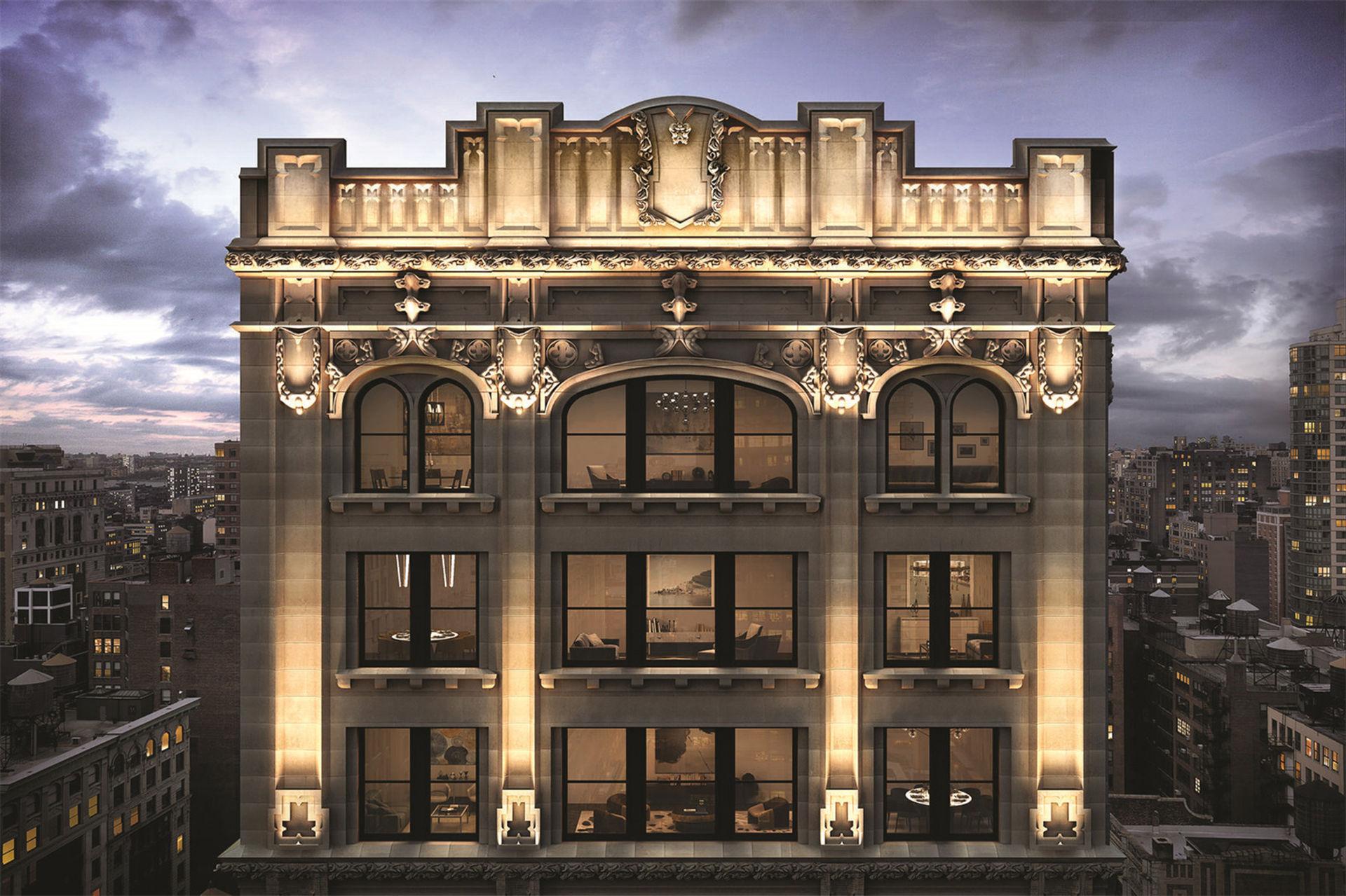 Enormt penthouse till salu i New York
