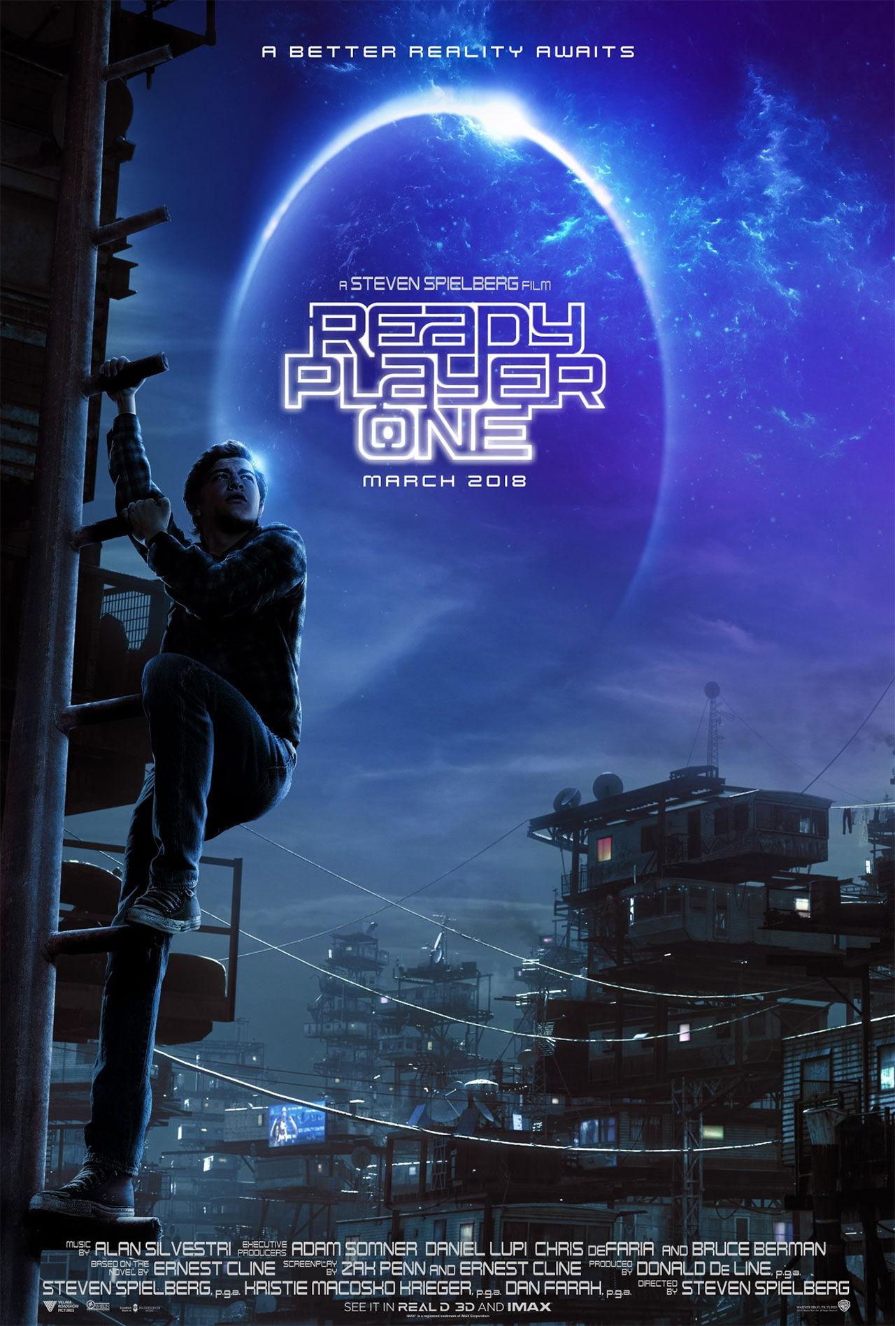 Poster för Spielberg-rullen Ready Player One