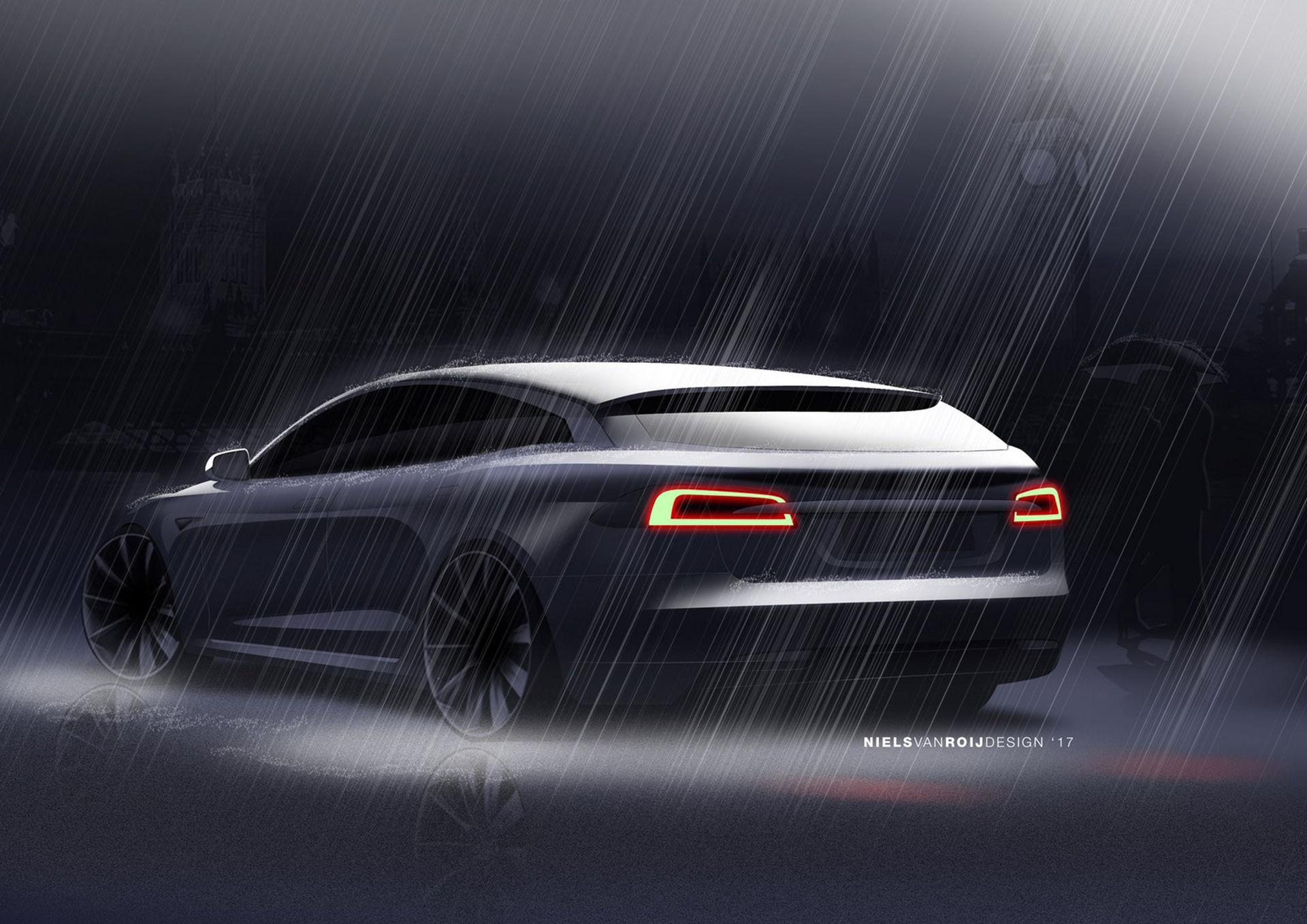 Fler bilder på den nederländska Tesla-kombin