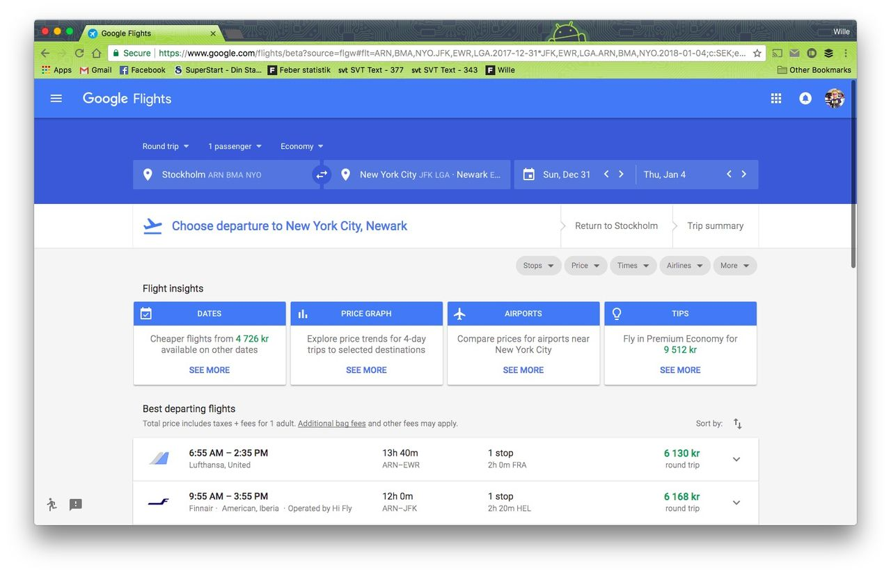 Google uppdaterar sina resetjänster