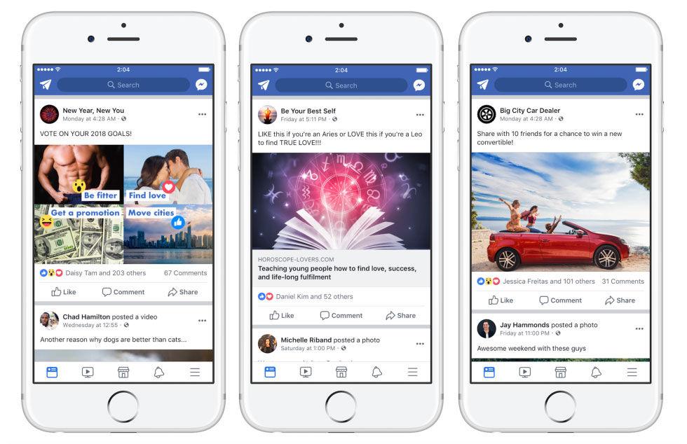 Facebook sätter stopp för klickfiske