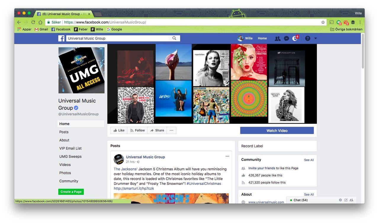 Facebook och Universal Music i samarbete