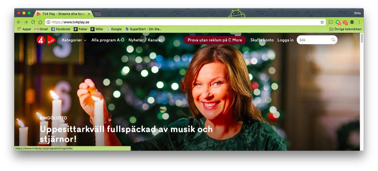 TV4 Play ballade ur under uppesittarkvällen