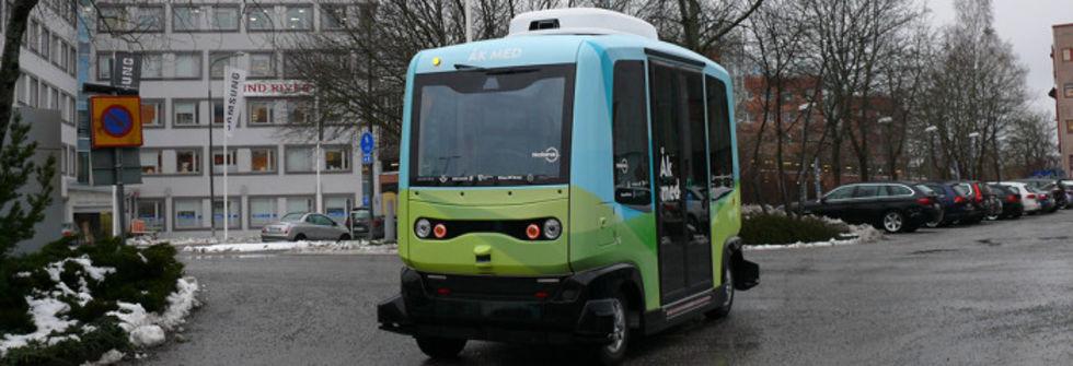 Stockholm först med självkörande bussar i Skandinavien