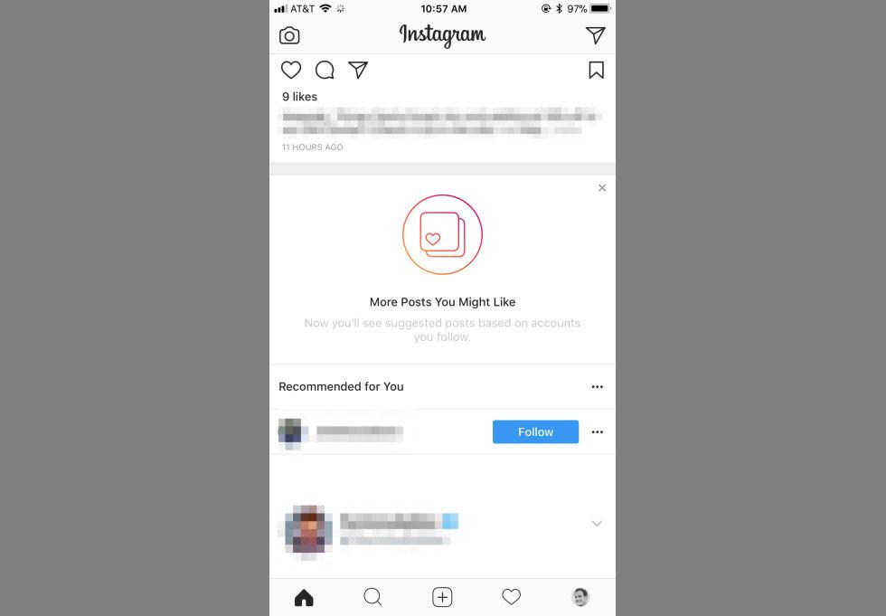 Instagram börjar rekommendera grejer
