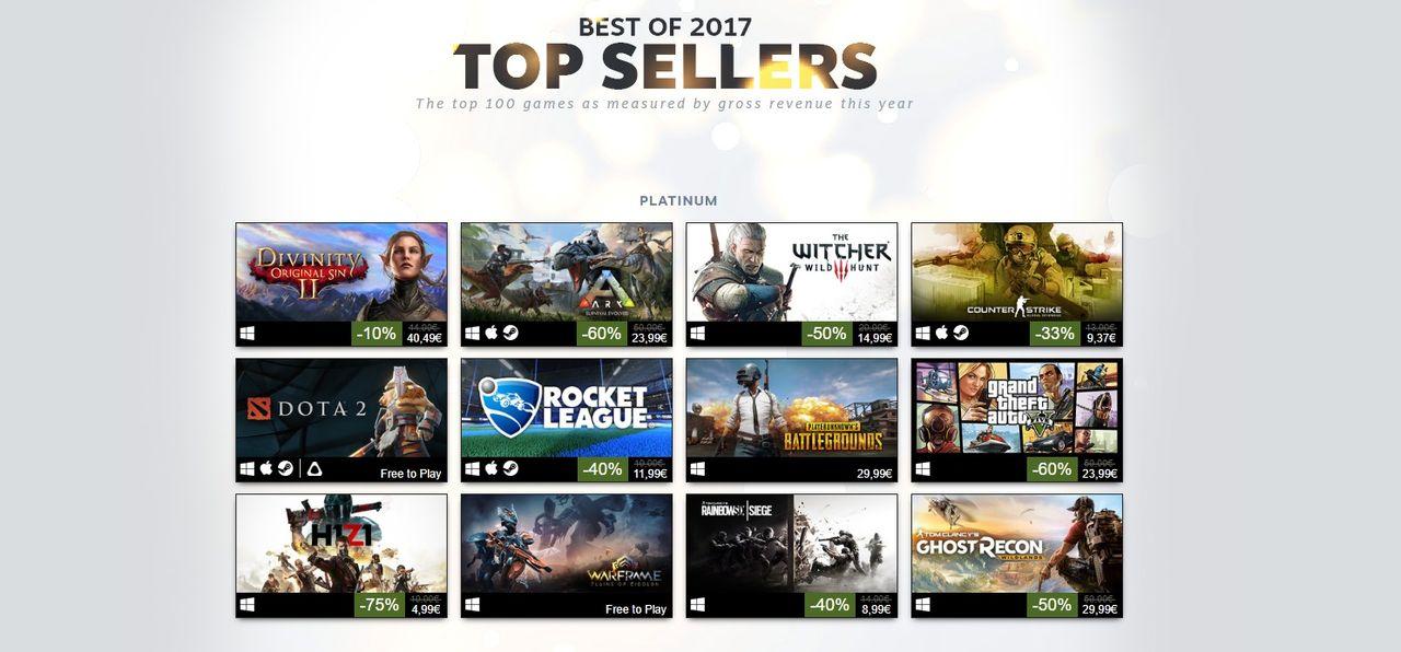 Valve listar förra årets spel på Steam