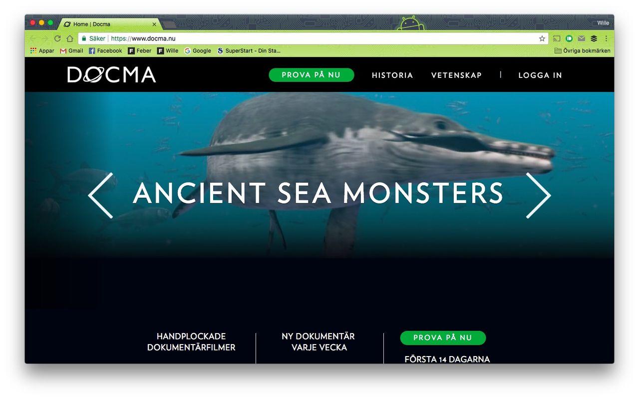 Docma är en streamingtjänst för dokumentärer