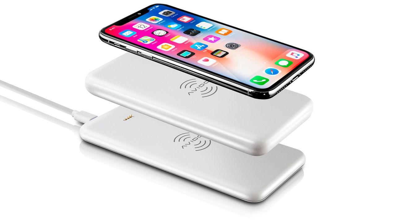 Avido WiBa är batteripack för trådlös laddning. Laddar din