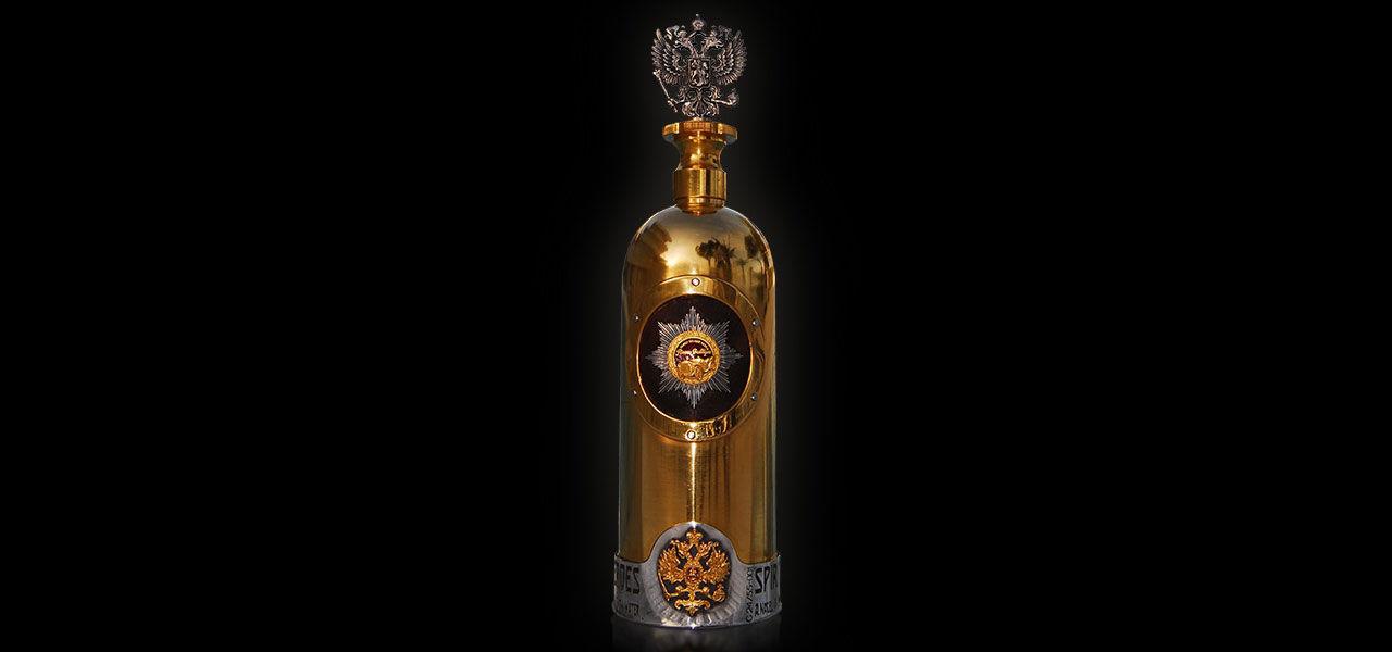 Vodkaflaska värd 1,3 miljoner dollar stulen