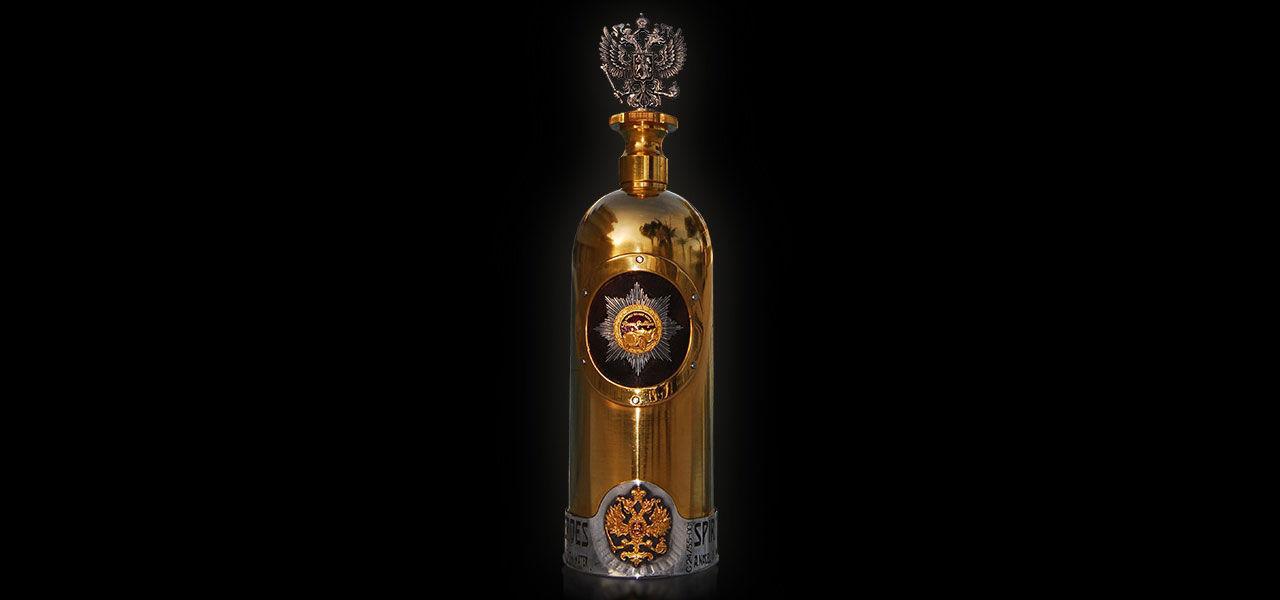 Superdyra vodkaflaskan återfunnen - tom