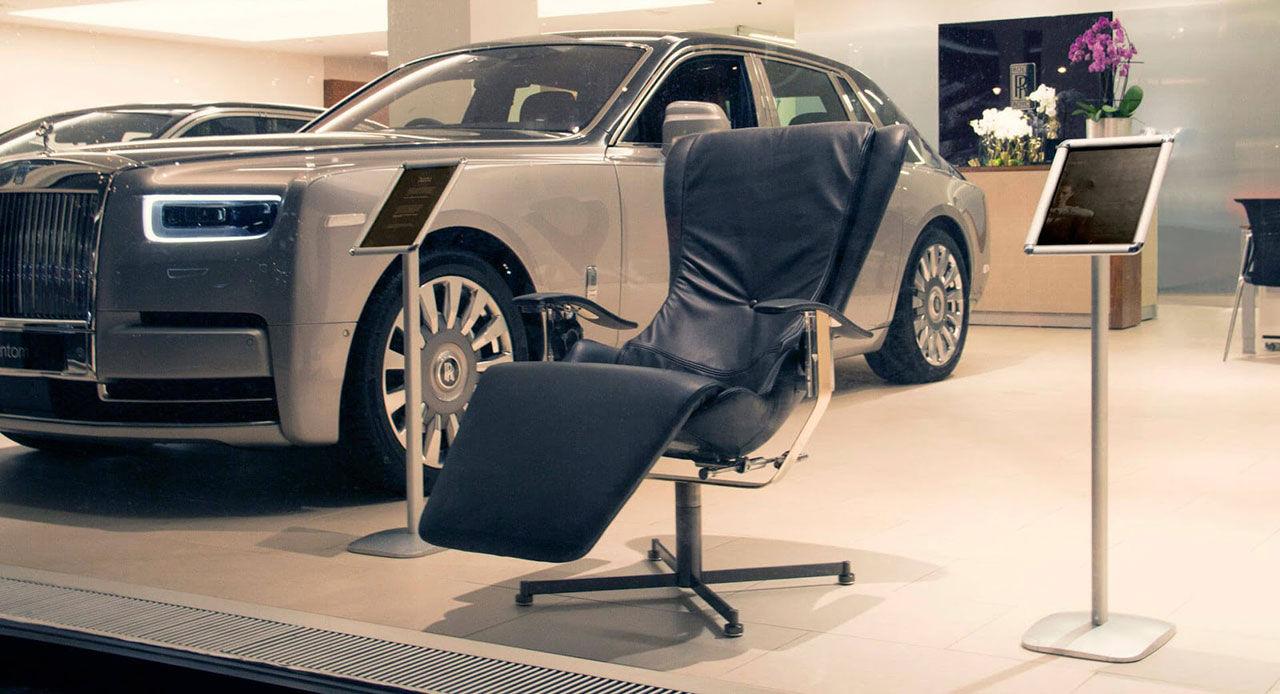 Världens mest avancerade fåtölj hos Rolls-Royce