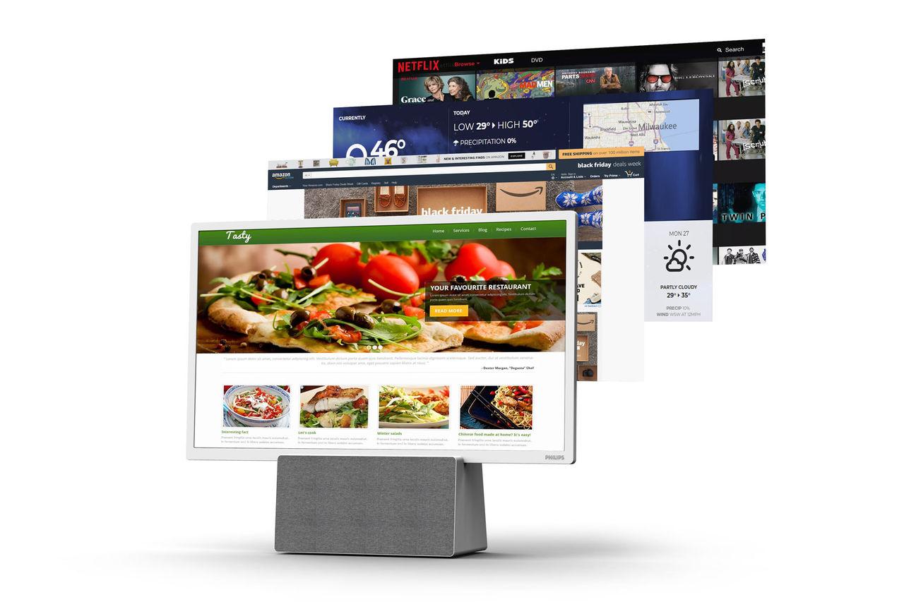 Philips petar in Google Assistant i köks-TV
