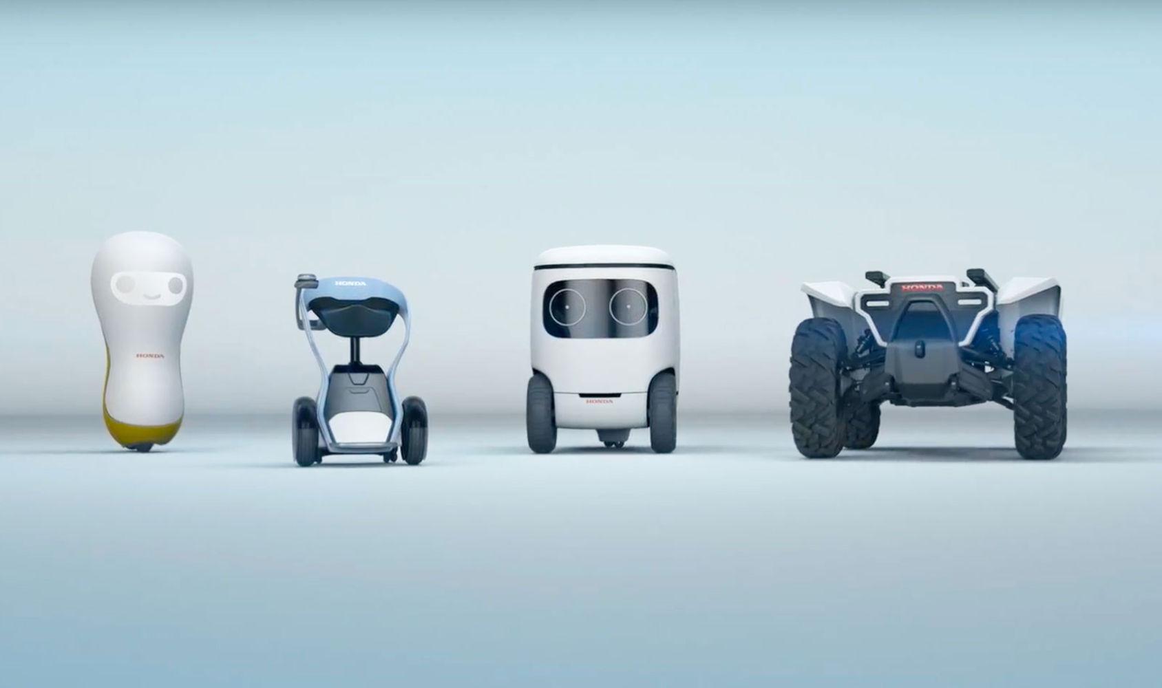 Honda berättar mer om sina fyra robotar