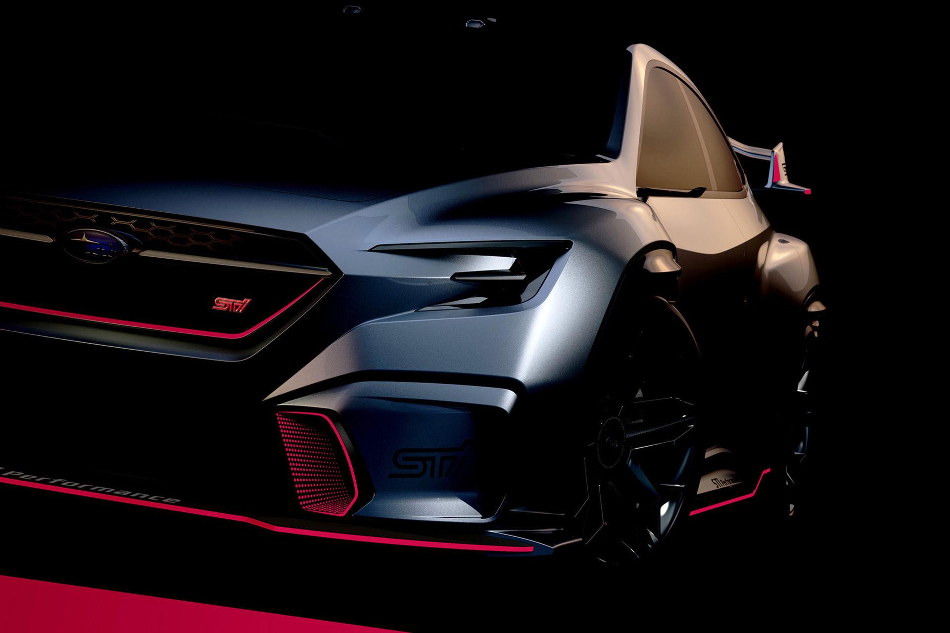 Teaser för Subaru Viziv som STI