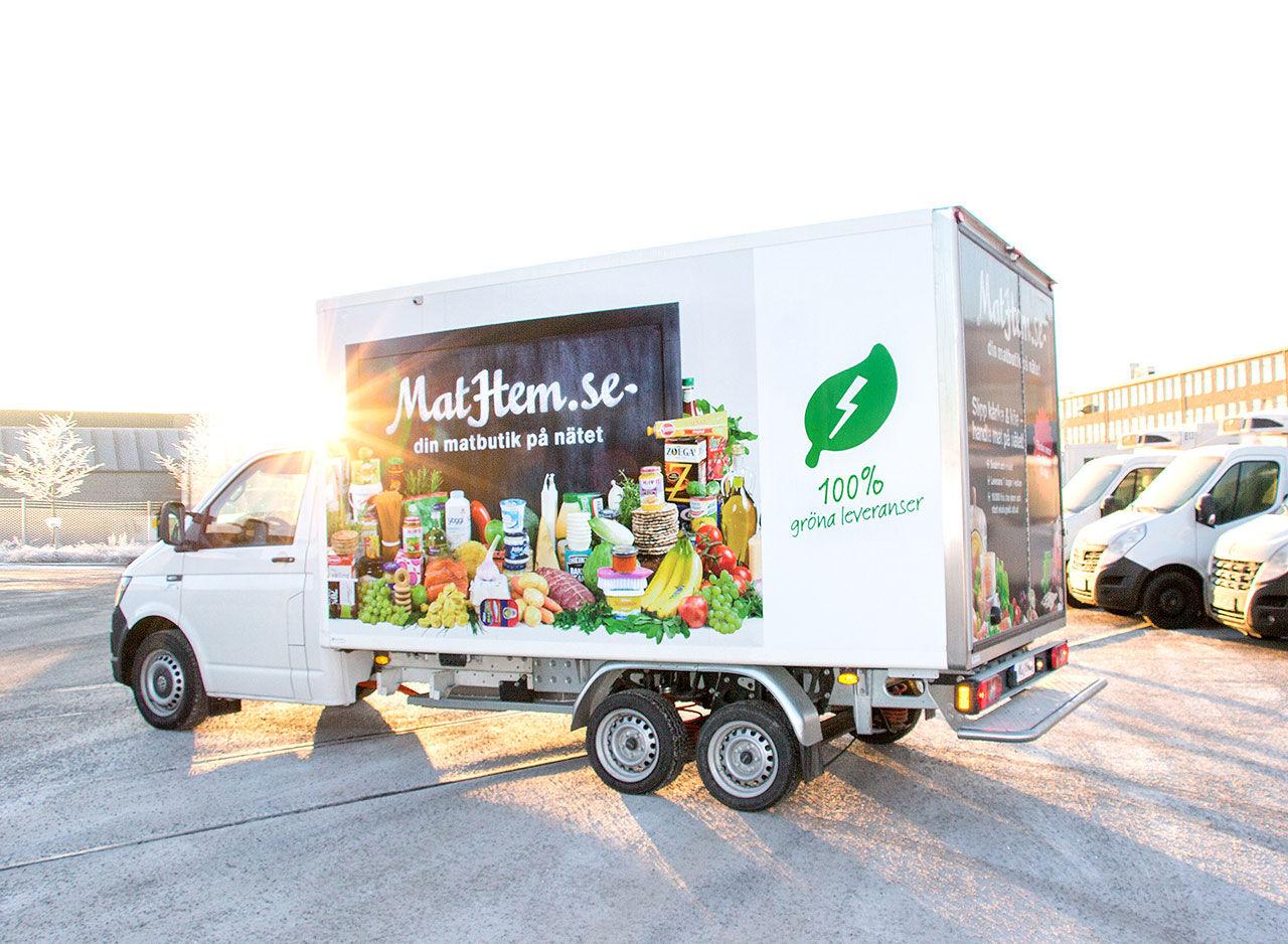 MatHem börjar leverera med eldriven lastbil