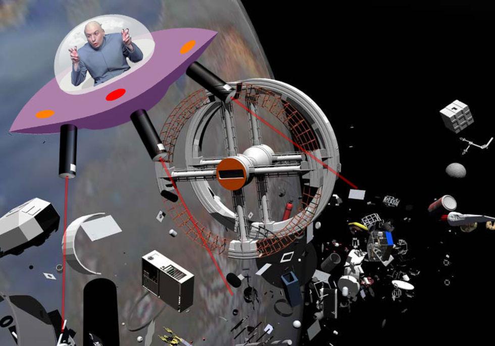Forskare vill skjuta rymdskrot med laser