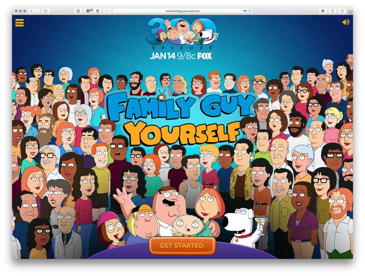 Gör dig själv i Family Guy-stil