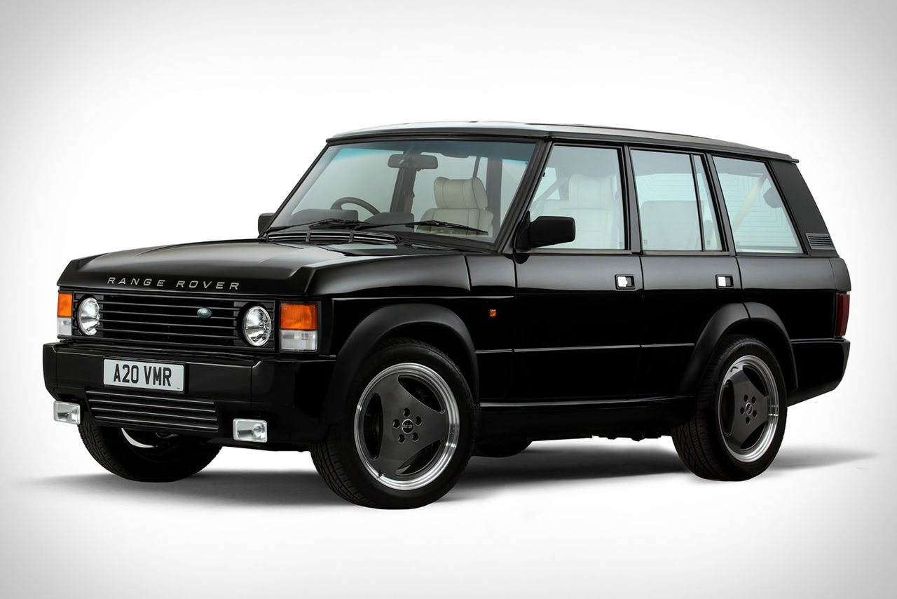 Klassisk Range Rover med kompressormatad V8:a