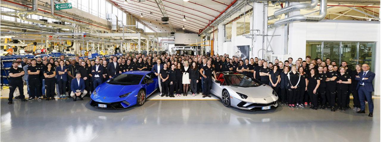 Lamborghini levererade 3.815 stycken bilar 2017