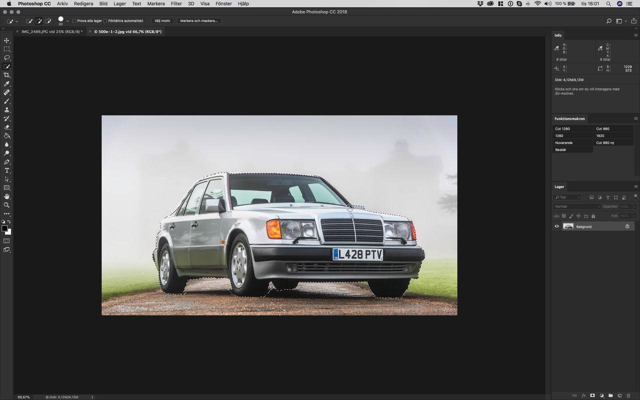 Photoshop hittar motiv med AI