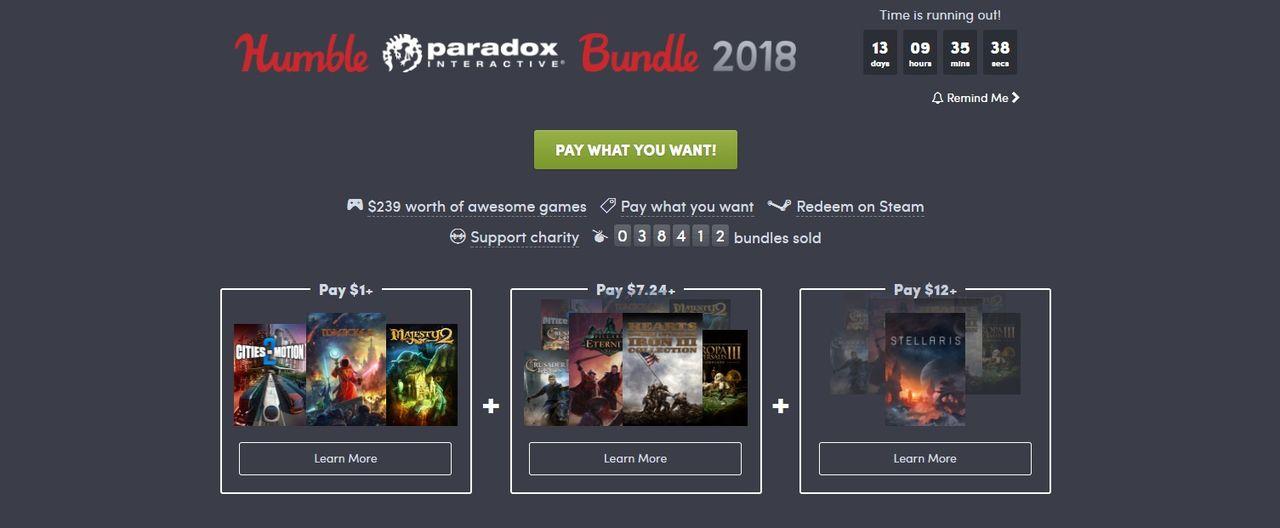 Fynda Paradox-lir i ny Humble Bundle
