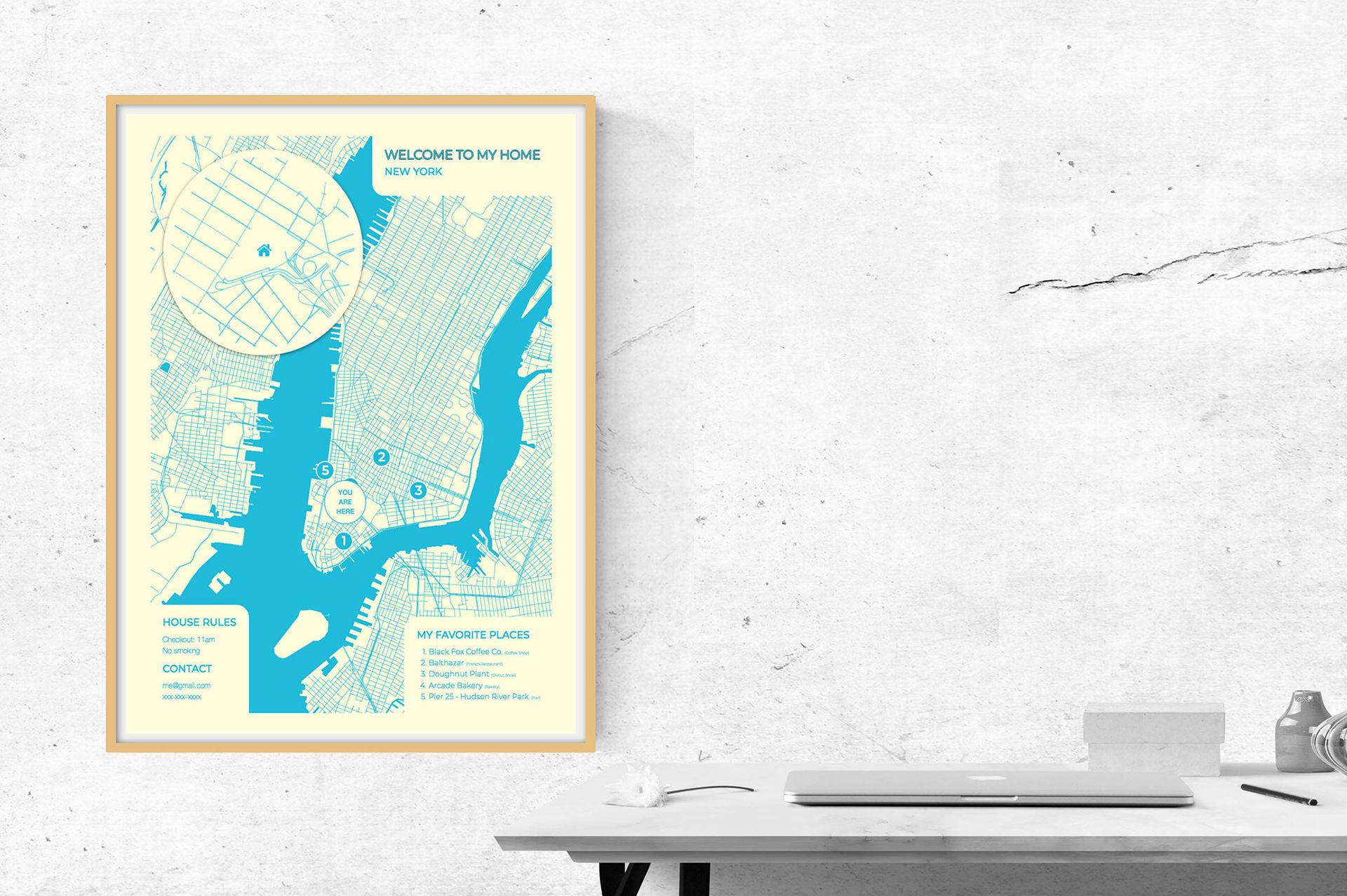 Gör en fin karta åt dina Airbnb-gäster