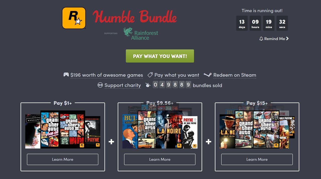 Fynda Rockstar-spel i ny Humble Bundle