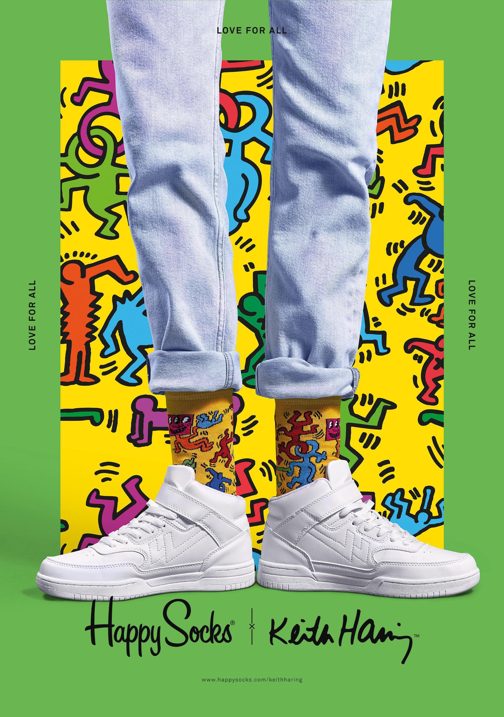 Happy Socks inspireras av Keith Haring
