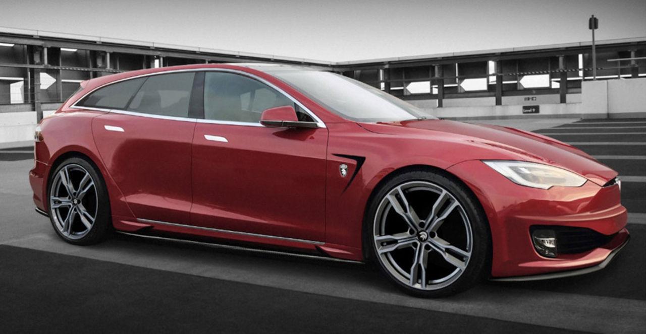 Ares bygger också en kombi av Tesla Model S