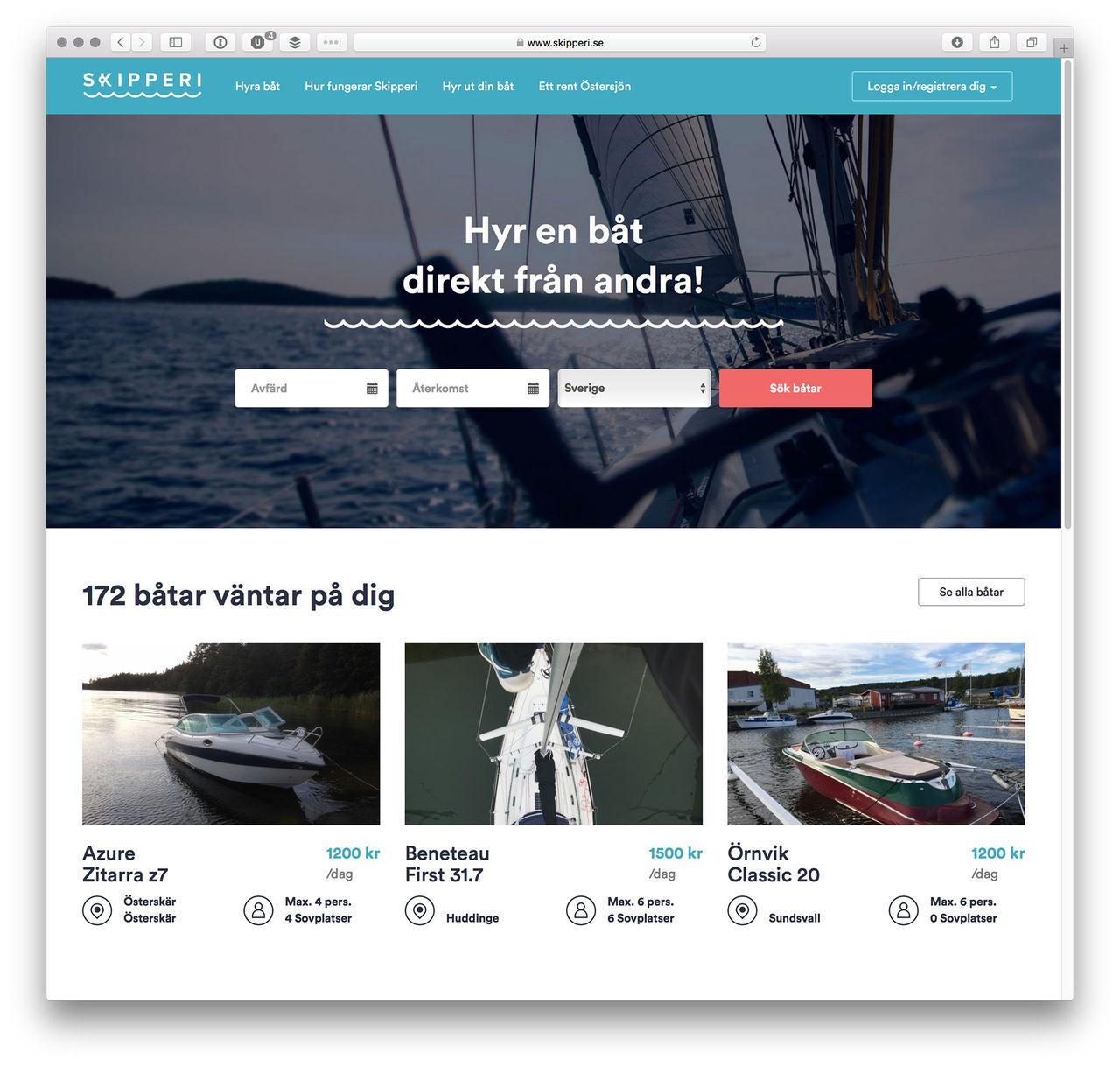 Hyr båt direkt av andra privatpersoner