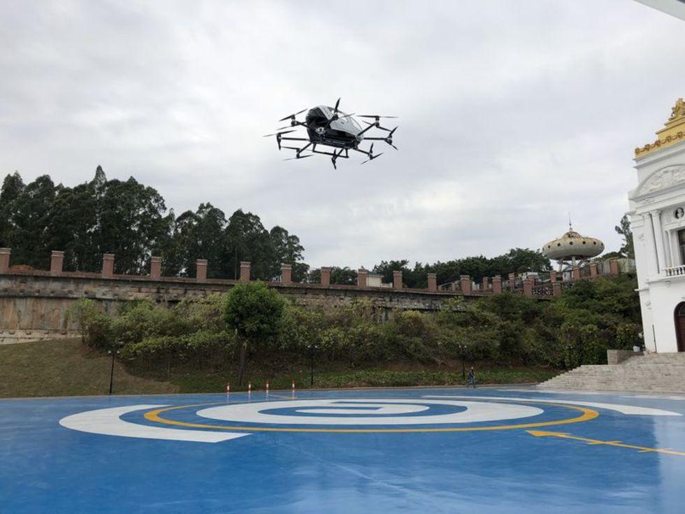 Ehang har testflugit sin självflygande taxi