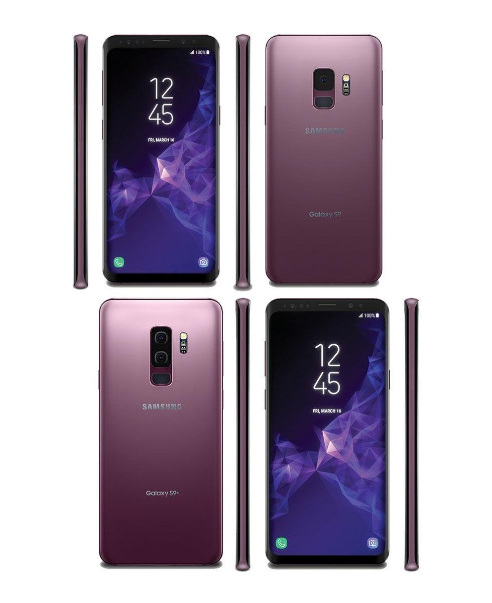 Här syns Samsung Galaxy S9 och S9+ i nya färgen syren