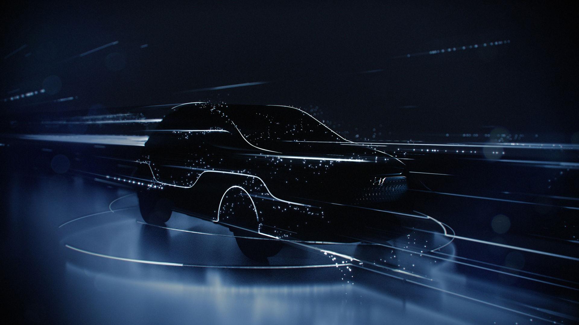 Hyundai släpper teaser på eldriven Kona