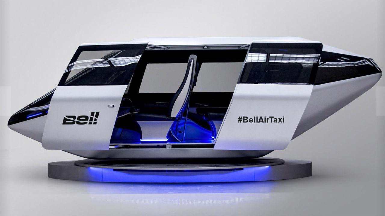 Uber och Bell siktar på flygande taxis