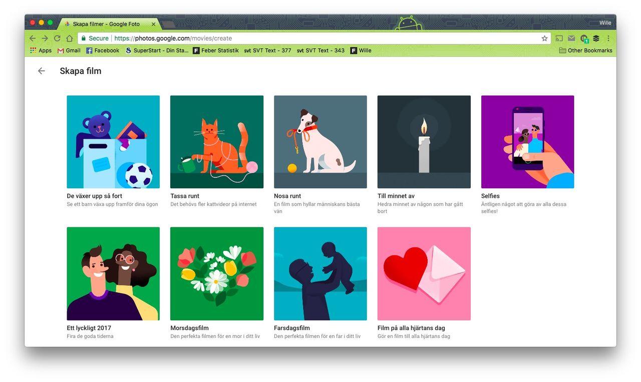 Google Photos satsar mer på videofilmer