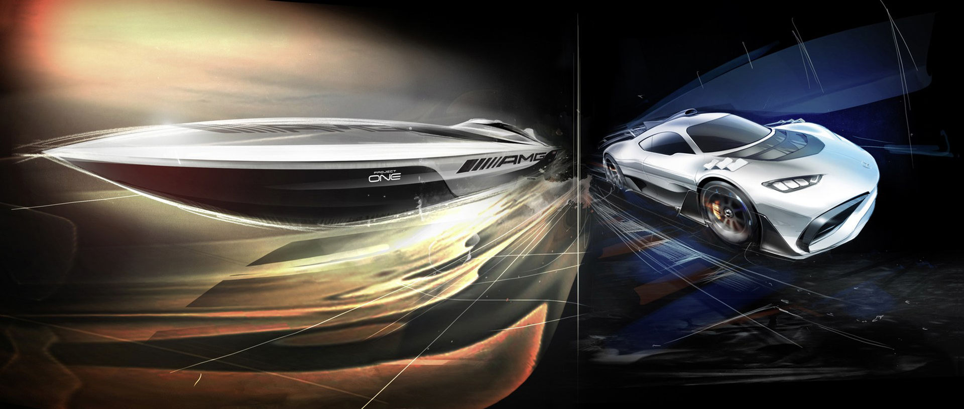 Båt med inspiration från Mercedes superbil