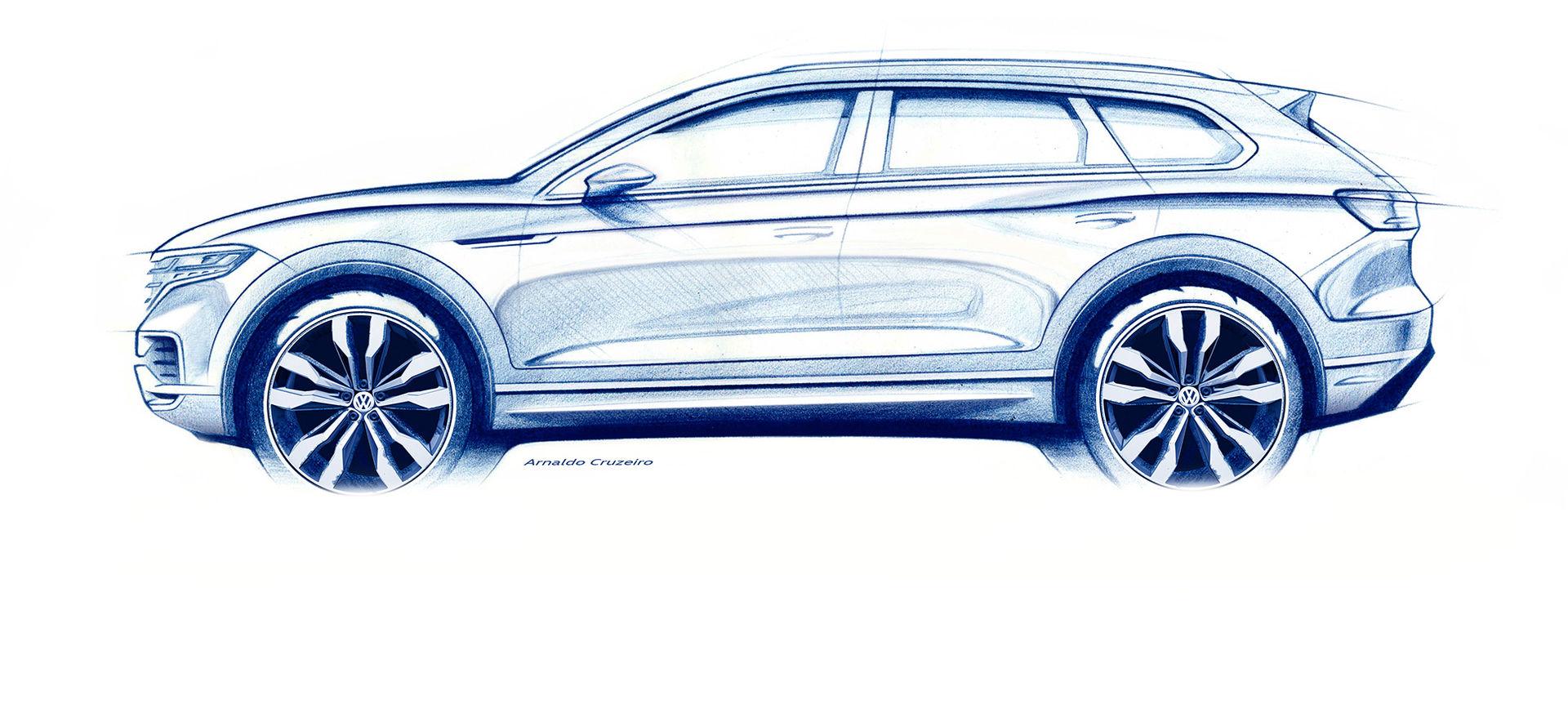 Volkswagen visar skiss på nya Touareg